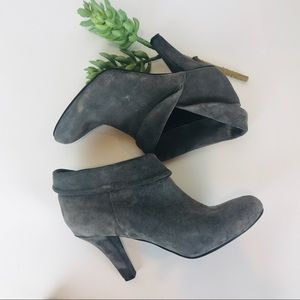 Enzo Angiolini Gray Suede Booties 7 M